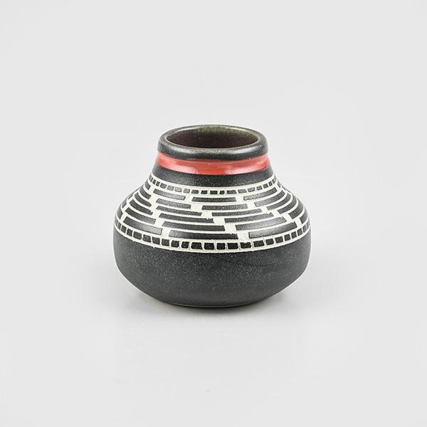 Porcelain Basket Weave Vase by Northwest Coast Native Artist Patrick Leach