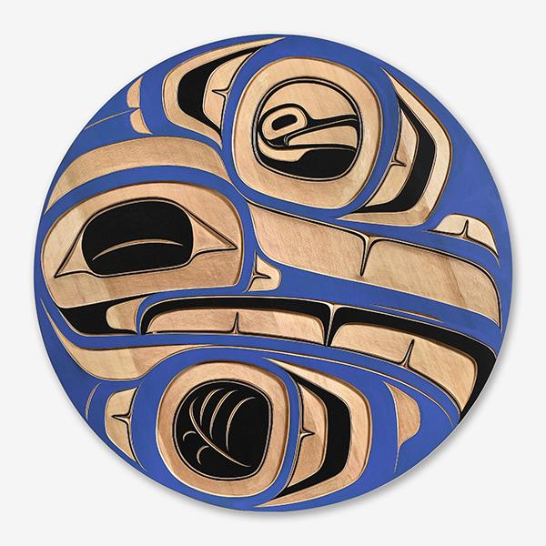 Wood Hummingbird Panel by Northwest Coast Native Artist Trevor Angus