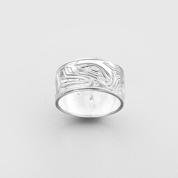 Silver Wolf Ring by Northwest Coast Native Artist Joseph Wilson