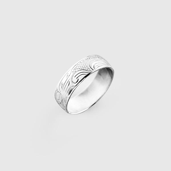 Silver Thunderbird Ring by Native Artist John Lancaster
