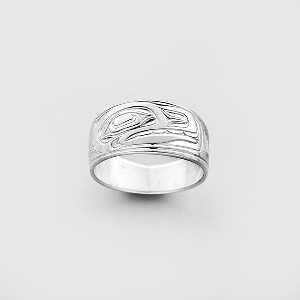 Silver Killerwhale Ring by Northwest Coast Native Artist Joseph Wilson