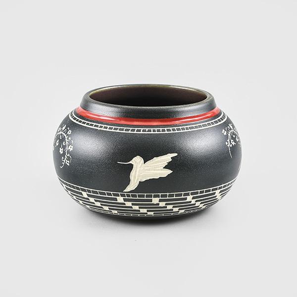 Porcelain Hummingbird Bowl by Northwest Coast Native Artist Patrick Leach
