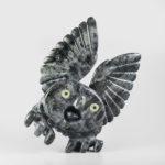 Stone Owl Sculpture by Inuit Artist Toonoo Sharky