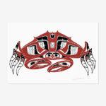 Crab Print Artist Proof by Northwest Coast Native Artist Richard Shorty
