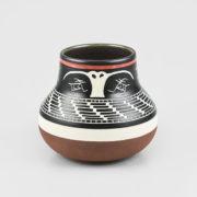 Porcelain Owl Vase by Northwest Coast Native Artist Patrick Leach