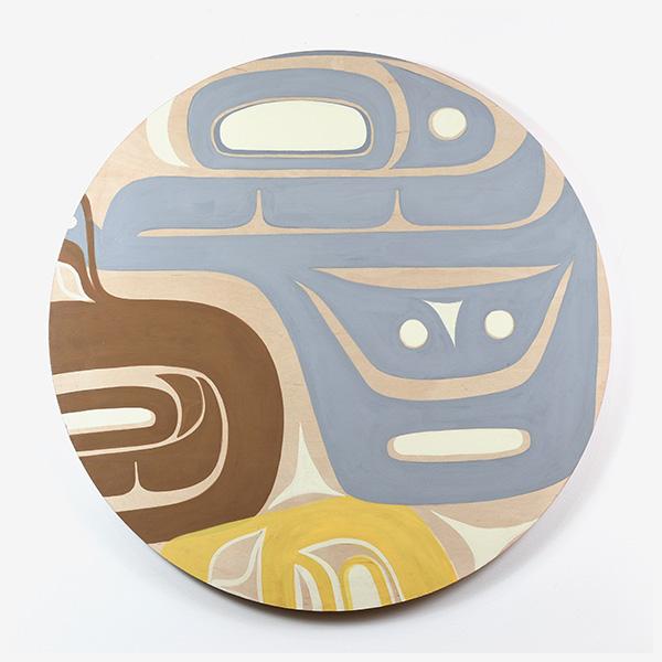 Wood Olympic Anniversary Panel by Northwest Coast Native Artist Corrine Hunt
