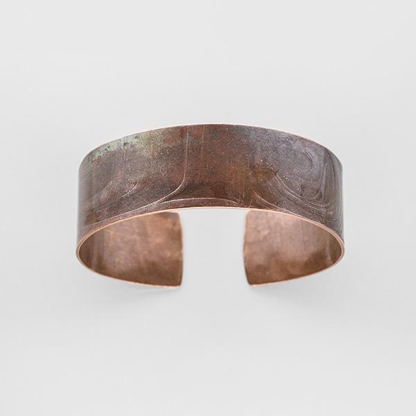 Impressed Copper Bracelet by Northwest Coast Native Artist Gwaai Edenshaw