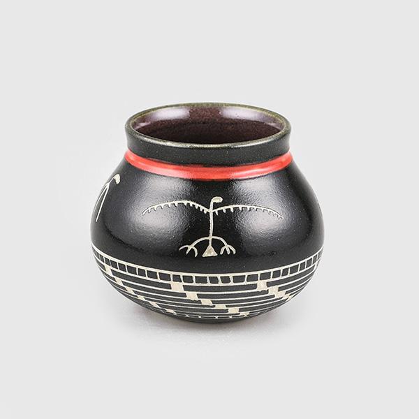 Porcelain Eagle & Basket Weave Bowl by Northwest Coast Native Artist Patrick Leach