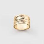 Engraved Gold Eagle Ring by Northwest Coast Native Artist Ivan Thomas