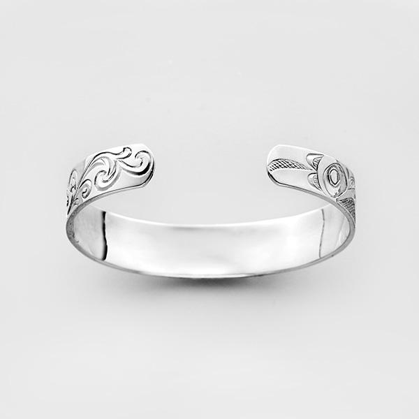 Silver and Gold Hummingbird Bracelet by Native Artist Kelvin Thompson