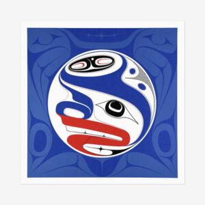 Llgaay Gwii Sdiihlda Restore Balance print by Native artist Ben Davidson