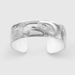 Silver Raven Bracelet by Native Artist Don Lancaster