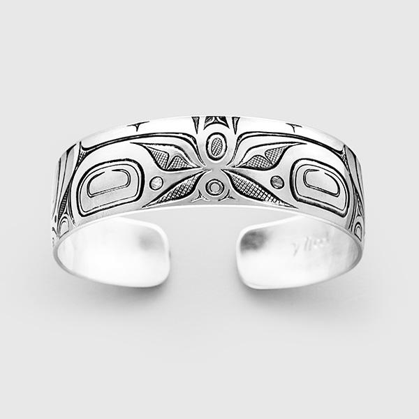 Silver Butterfly Bracelet by Native Artist David Neel