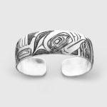 Silver Puffin Bracelet by Native Artist David Neel