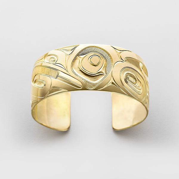 Gold Thunderbird Bracelet by Native Artist Kelly Robsinon