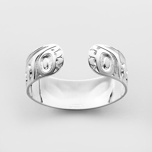Silver Hummingbird Bracelet by Native Artist Ivan Thomas