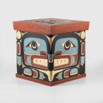 Wood Raven, Killerwhale & Ancestor Bentwood Box by Native Artist Kevin Daniel Cranmer