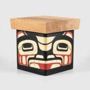 Wood Bear Bentwood Box by Native Artist Joseph Campbell