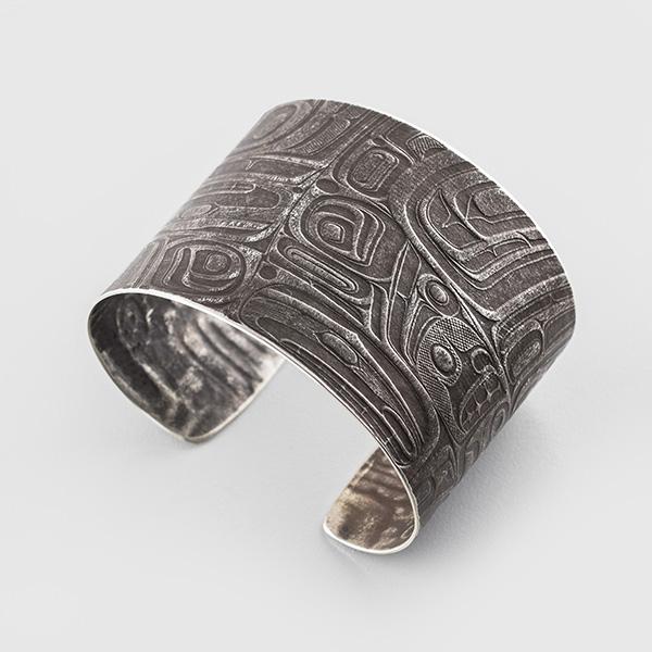 Silver Raven Bracelet by Native Artist Gwaai Edenshaw