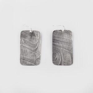 Silver Earrings by Native Artist Gwaai Edenshaw