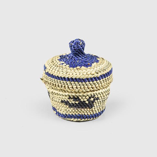 Grass and Bark Bird Woven Basket by Northwest Coast Native Artist Dorothy Shephard