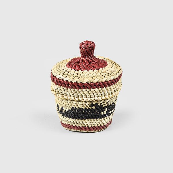 Grass and Bark Killerwhale Woven Basket by Northwest Coast Native Artist Dorothy Shephard