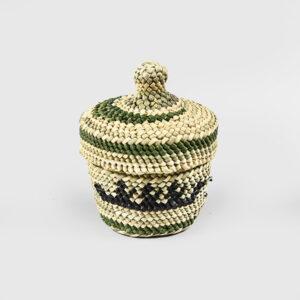 Grass and Bark Canoe Woven Basket by Northwest Coast Native Artist Dorothy Shephard
