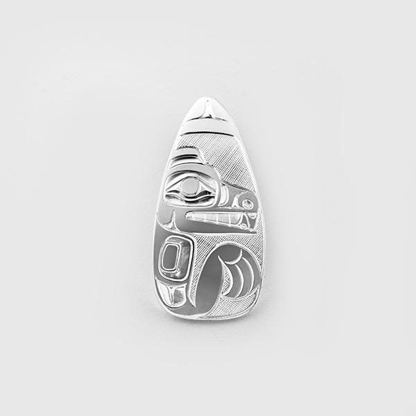 Silver Bear Pendant by Native Artist Landon Gunn