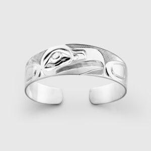 Silver Eagle Bracelet by Native Artist Landon Gunn