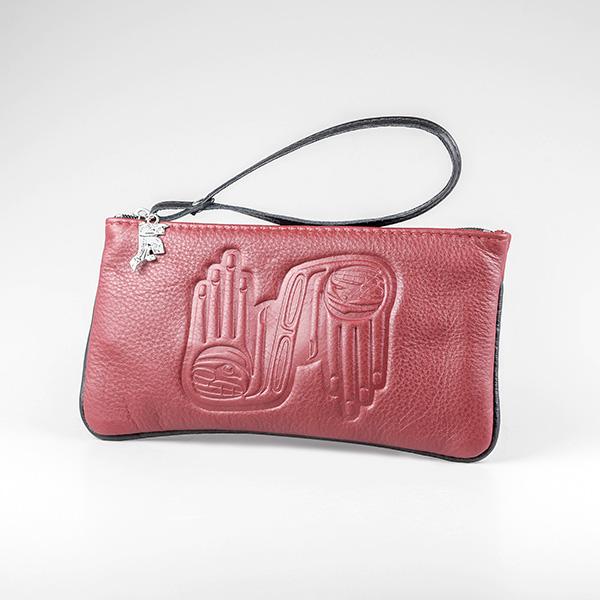 Leather Wristlet by Northwest Coast Native Artist Dorothy Grant