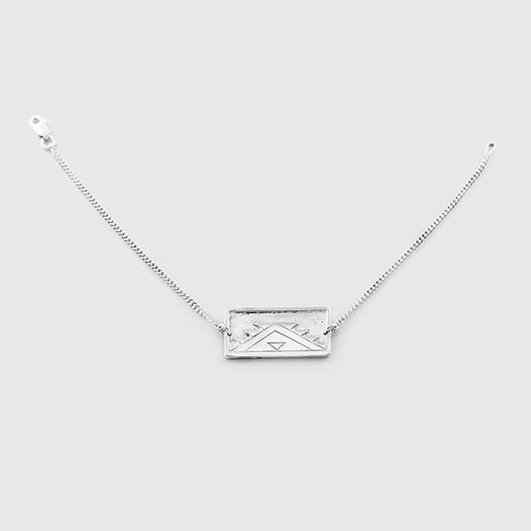 Silver Weaving Design Bracelet by Native Artist Sharifah Marsden