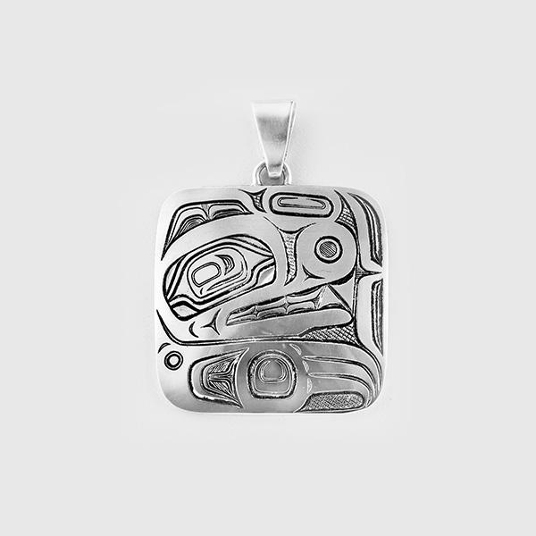Silver Bear Pendant by Native Artist David Neel