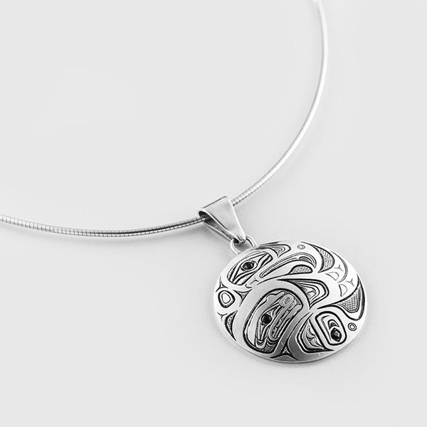 Silver Eagle Pendant by Native Artist David Neel