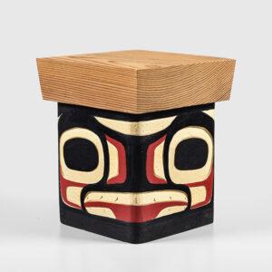 Wood Killerwhale Box by Northwest Coast Native Artist Joseph Campbell