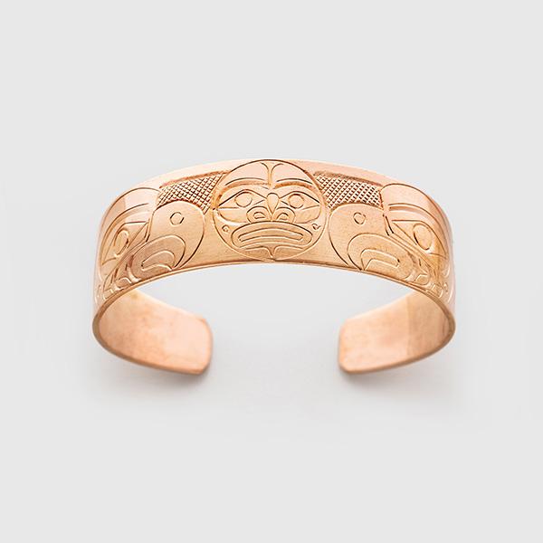 Copper Eagles & Moon Bracelet by Native Artist Herb Lancaster