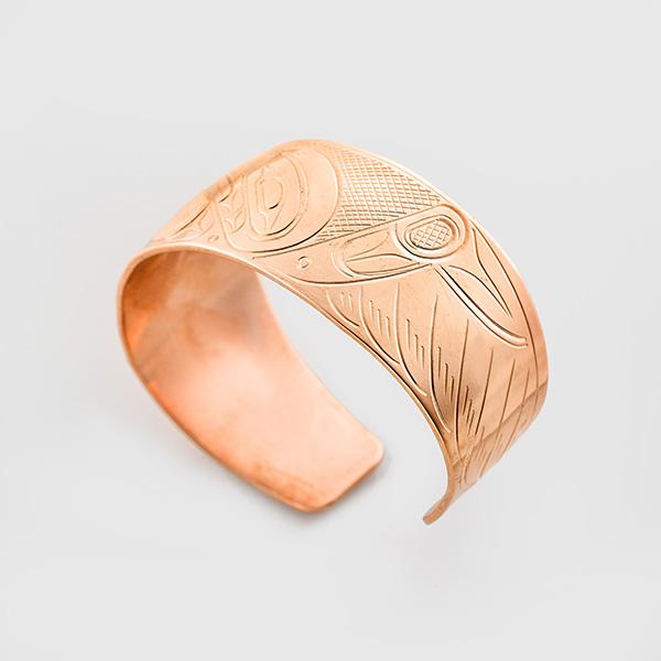 Copper Raven Bracelet by Native Artist John Lancaster