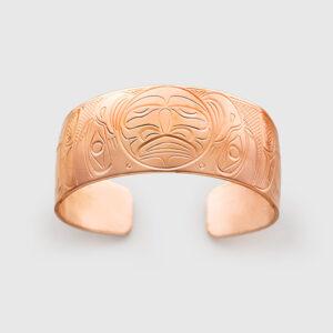 Copper Moon and Eagle Bracelet by Native Artist John Lancaster