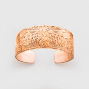 Copper Dragonfly Bracelet by Native Artist John Lancaster