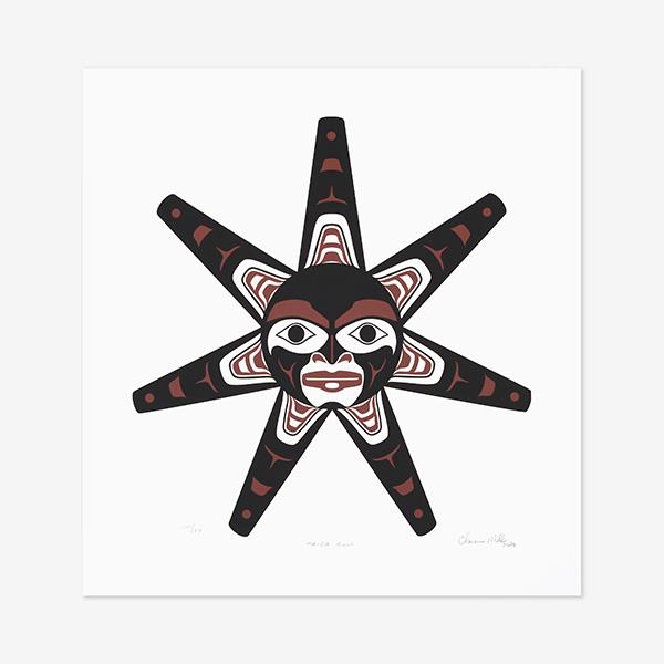 Haida Sun by Northwest Coast Native Artist Clarence Mills