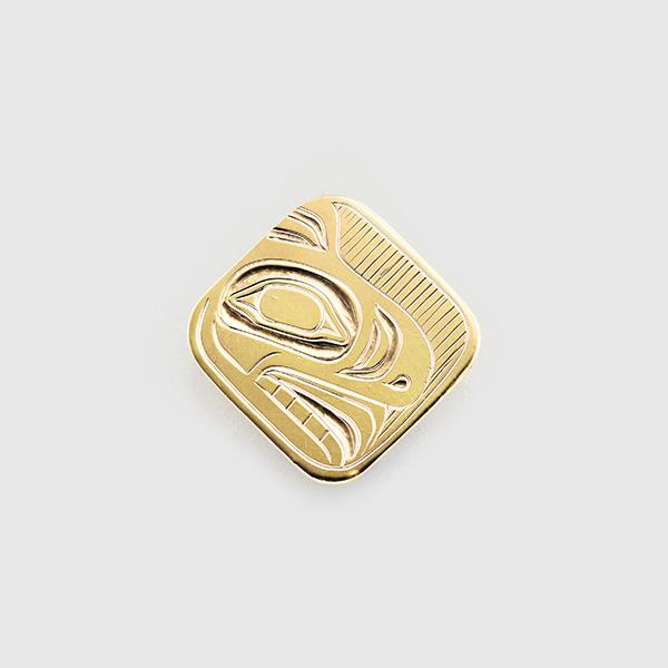 Gold Bear Pendant by Native Artist Trevor Angus