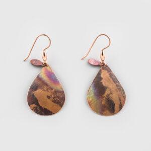 Copper Baby Raindrop Earrings by Native Artist Gwaai Edenshaw