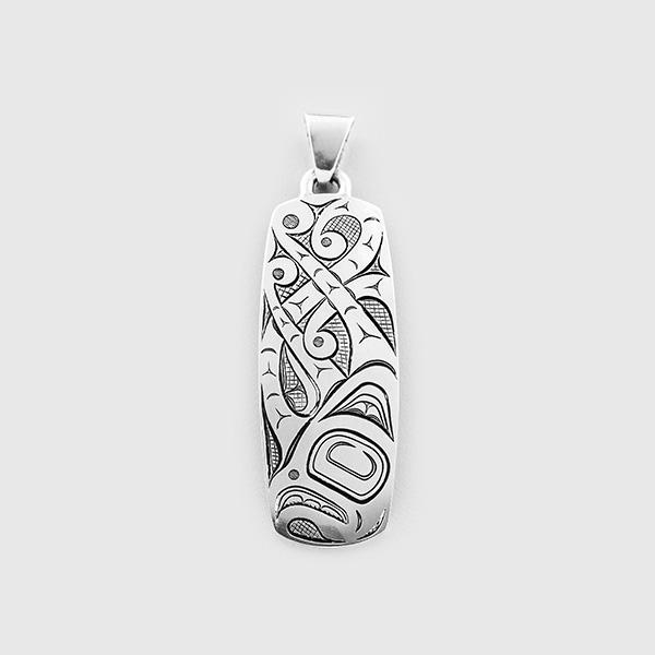 Silver Octopus Pendant by Native Artist David Neel