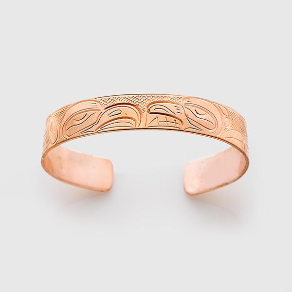 Copper Eagle and Bear Bracelet by John Lancaster