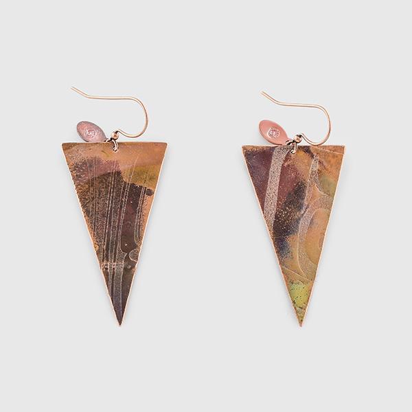 Copper Arrowhead Earrings by Native Artist Gwaai Edenshaw