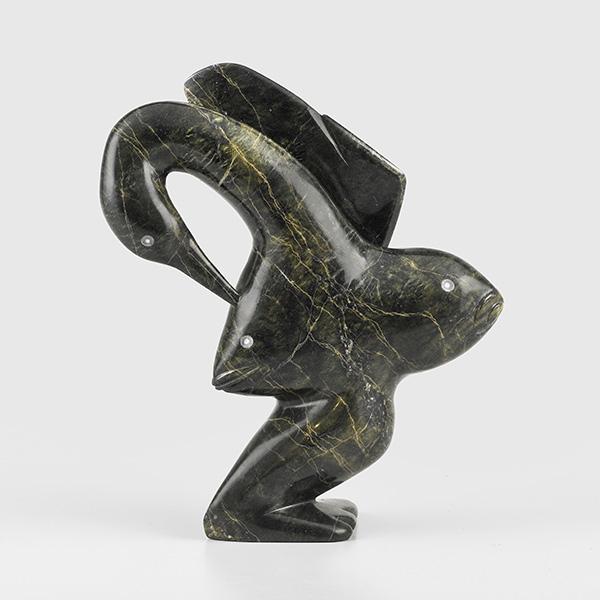 Transformation Sculpture by Inuit Native Artist Ningeosiak Ashoona