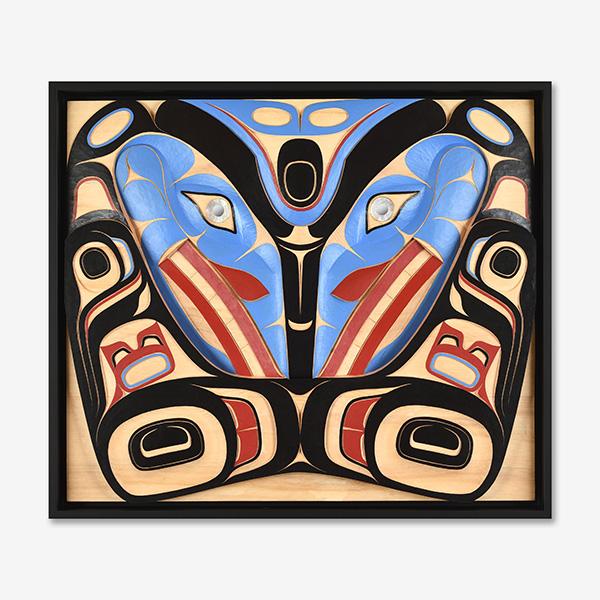 Wood Eagle Panel by Northwest Coast Native Artist Sesyaz Saunders