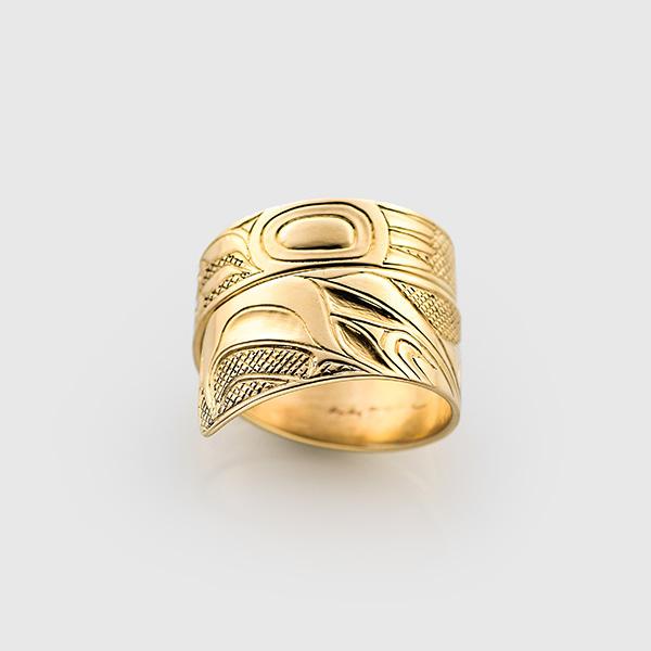 Gold Eagle Ring by Native Artist Walter Davidson