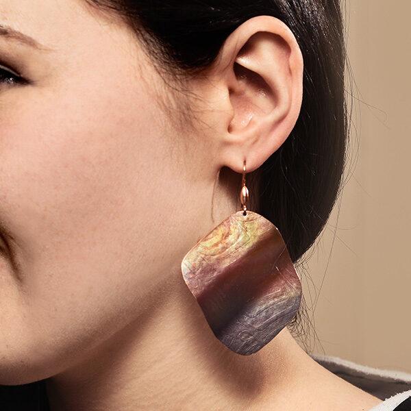 Modelled Copper Fish Lure Earrings by Native Artist Gwaai Edenshaw
