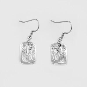 Silver Thunderbird Earrings by Native Artist Don Lancaster