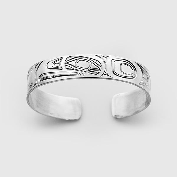 Silver Eagle Bracelet by Native Artist David Neel